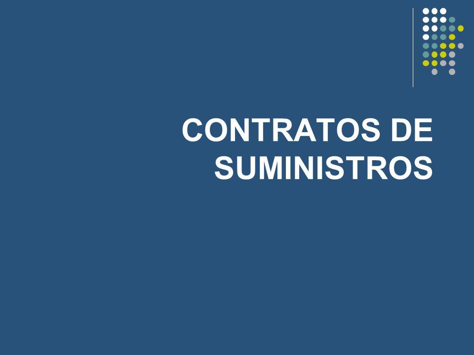 CONTRATOS DE SUMINISTROS