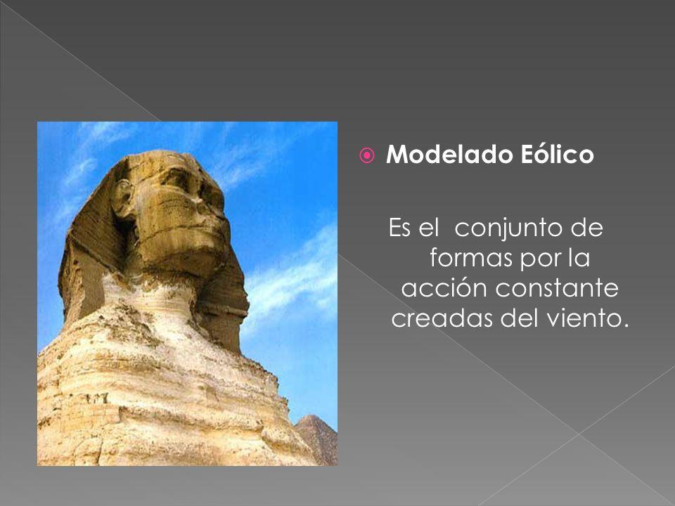 Modelado Eólico Es el conjunto de formas por la acción constante creadas del viento.