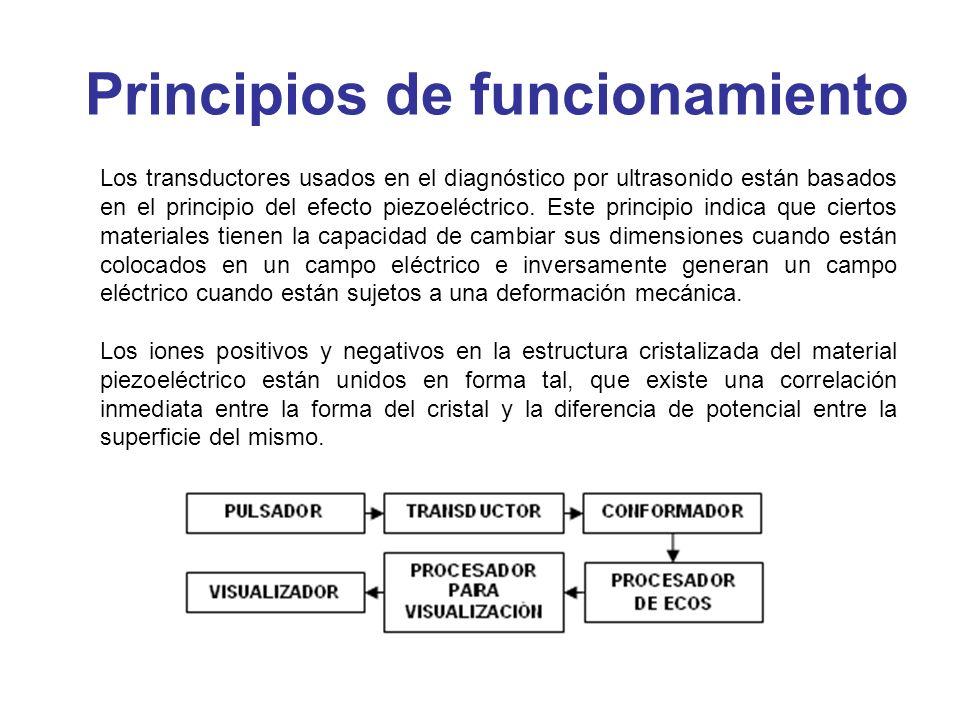 Los transductores usados en el diagnóstico por ultrasonido están basados en el principio del efecto piezoeléctrico. Este principio indica que ciertos