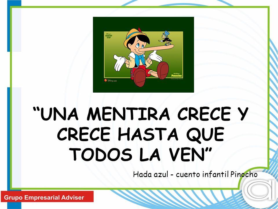 UNA MENTIRA CRECE Y CRECE HASTA QUE TODOS LA VEN Hada azul - cuento infantil Pinocho