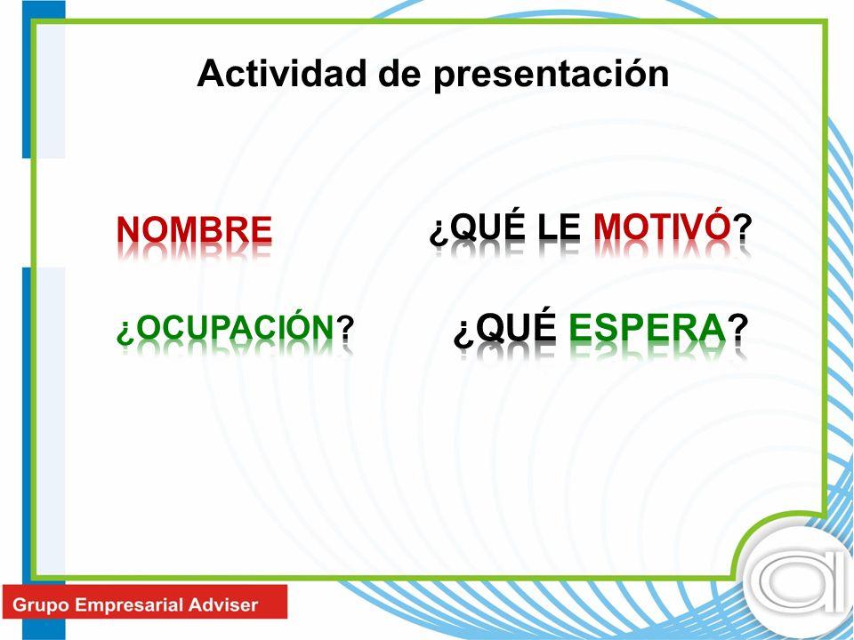 Actividad de presentación