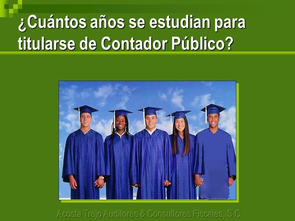 ¿Cuántos años se estudian para titularse de Contador Público?