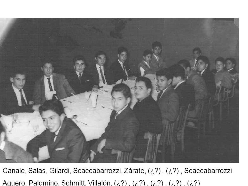 Canale, Salas, Gilardi, Scaccabarrozzi, Zárate, (¿?), (¿?), Scaccabarrozzi Agüero, Palomino, Schmitt, Villalón, (¿?), (¿?), (¿?), (¿?), (¿?)