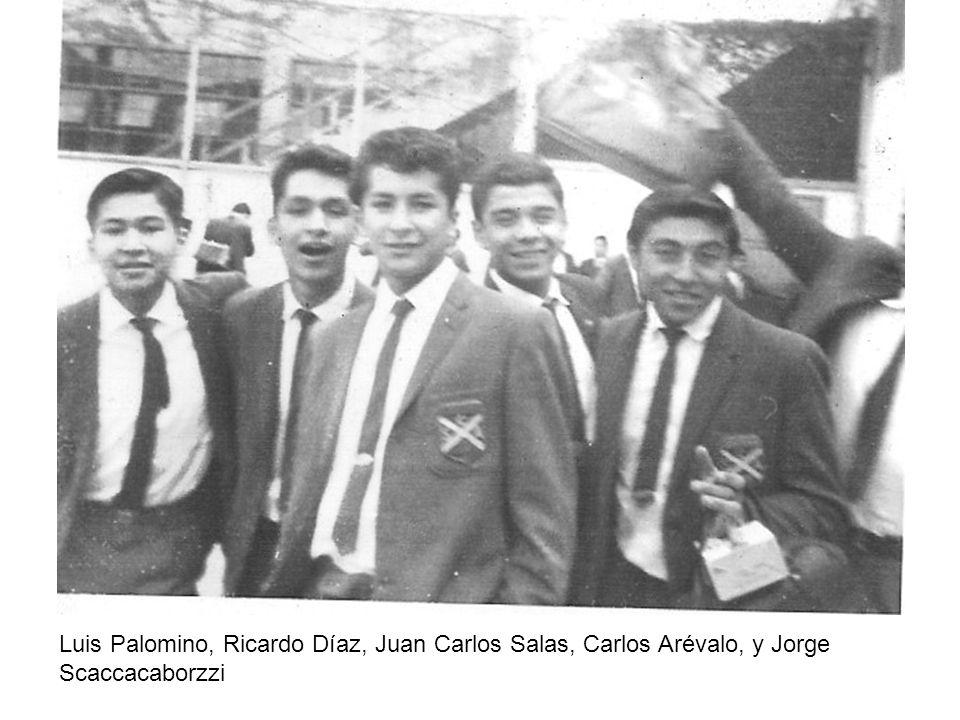 Luis Palomino, Ricardo Díaz, Juan Carlos Salas, Carlos Arévalo, y Jorge Scaccacaborzzi