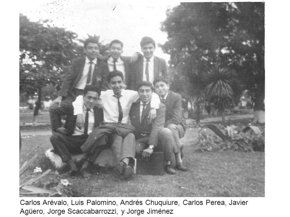 Carlos Arévalo, Luis Palomino, Andrés Chuquiure, Carlos Perea, Javier Agüero, Jorge Scaccabarrozzi, y Jorge Jiménez