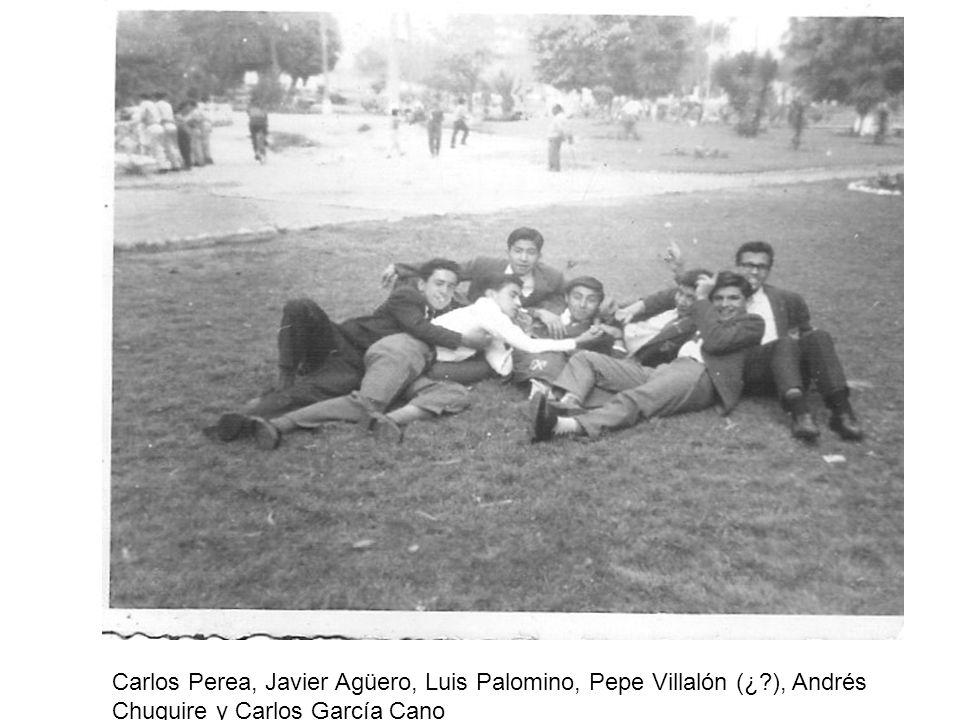 Carlos Perea, Javier Agüero, Luis Palomino, Pepe Villalón (¿?), Andrés Chuquire y Carlos García Cano