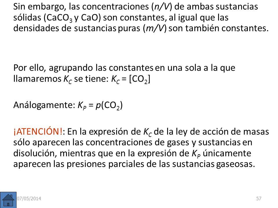 Equilibrios heterogéneos Se habla de reacción homogénea cuando tanto reactivos como productos se encuentran en el mismo estado físico. En cambio, si e