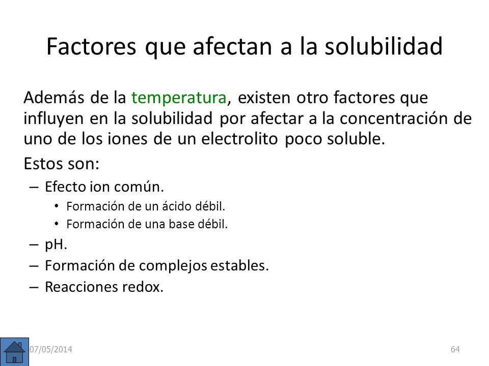 Producto de solubilidad en otro tipo de electrolito. Tipo A 2 B: A 2 B (s) 2 A + (ac) + B 2 (ac) Conc. inic. (mol/l): c 0 0 Conc. eq. (mol/l): c 2s s