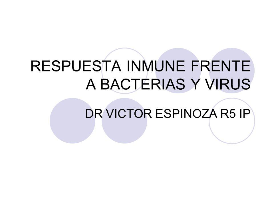 RESPUESTA INMUNE FRENTE A BACTERIAS Y VIRUS DR VICTOR ESPINOZA R5 IP
