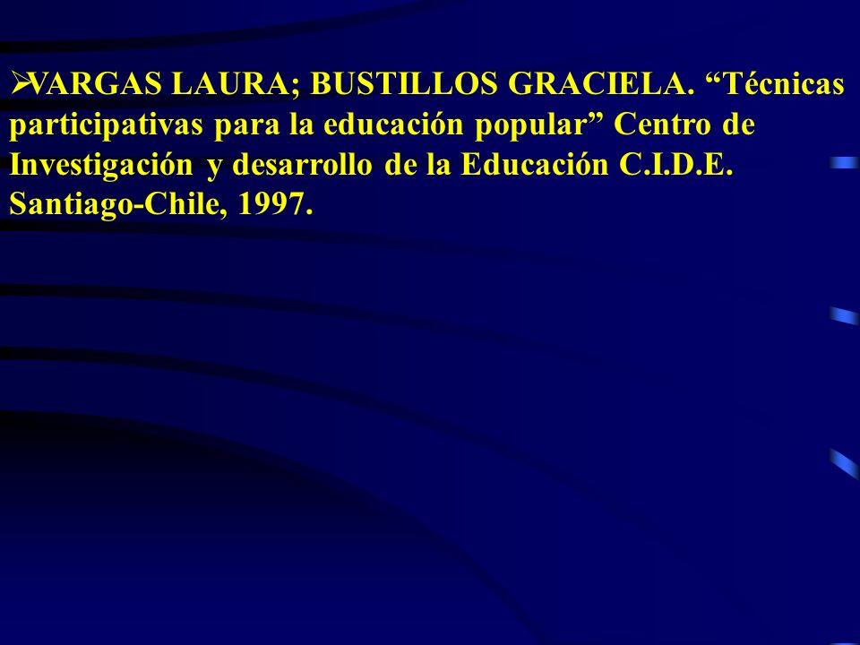 VARGAS LAURA; BUSTILLOS GRACIELA.