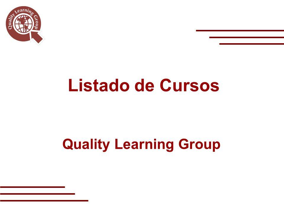 Quality Learning Group Listado de Cursos
