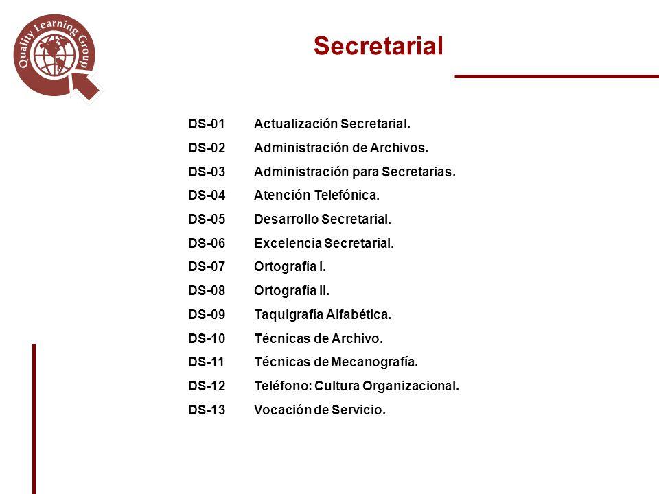 DS-01Actualización Secretarial.DS-02Administración de Archivos.