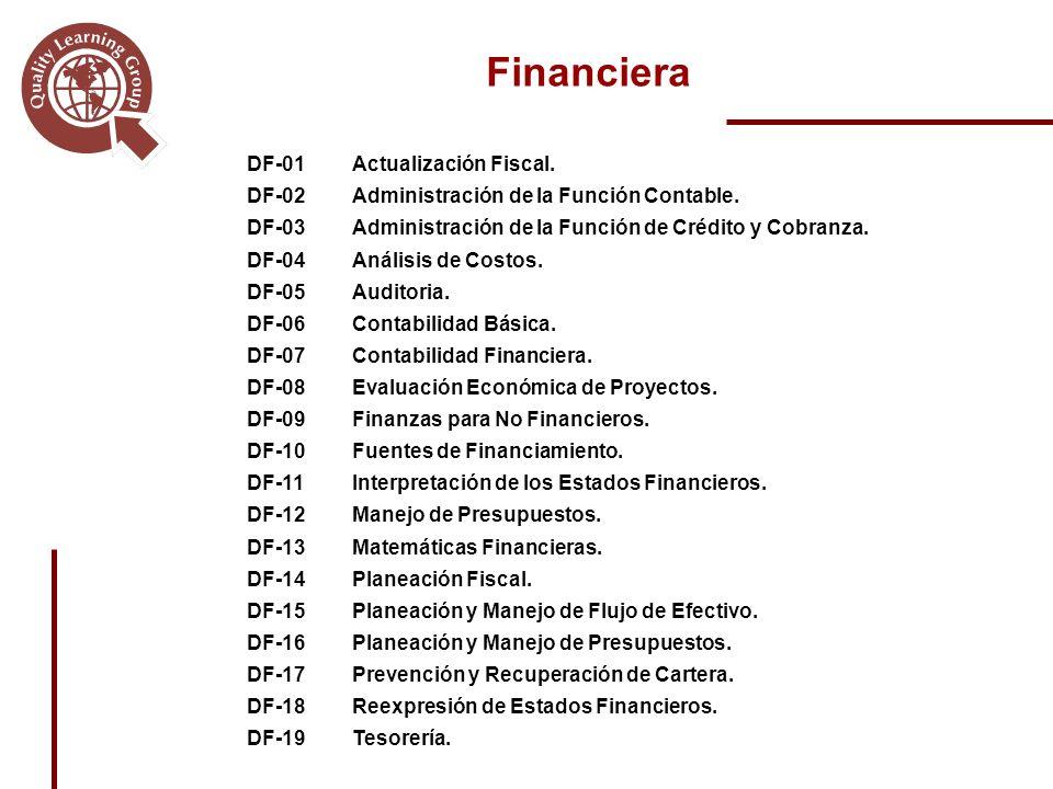 DF-01Actualización Fiscal.DF-02Administración de la Función Contable.