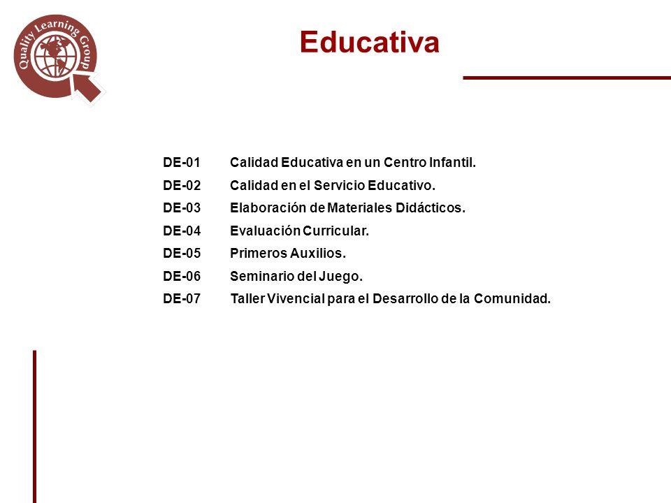 DE-01Calidad Educativa en un Centro Infantil.DE-02Calidad en el Servicio Educativo.