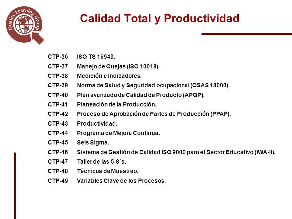 CTP-36ISO TS 16949.CTP-37Manejo de Quejas (ISO 10018).