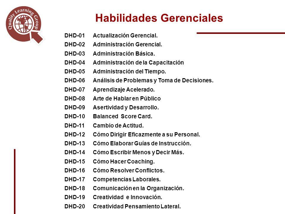 Habilidades Gerenciales DHD-01Actualización Gerencial.