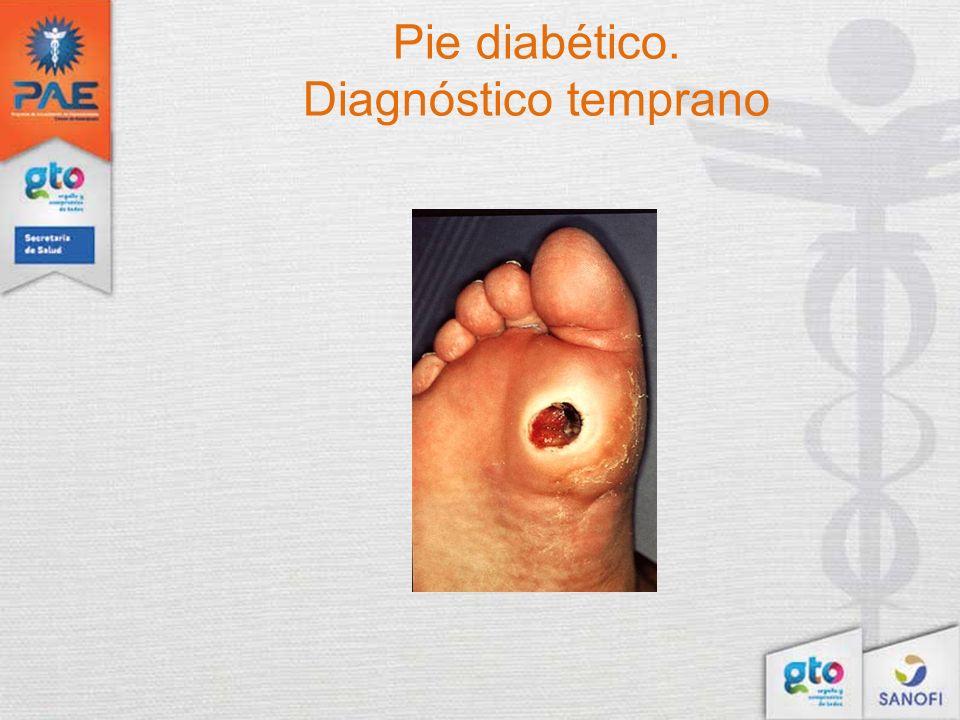 Pie diabético. Diagnóstico temprano