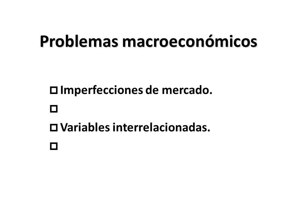 Problemas macroeconómicos p Imperfecciones de mercado. p p Variables interrelacionadas. p