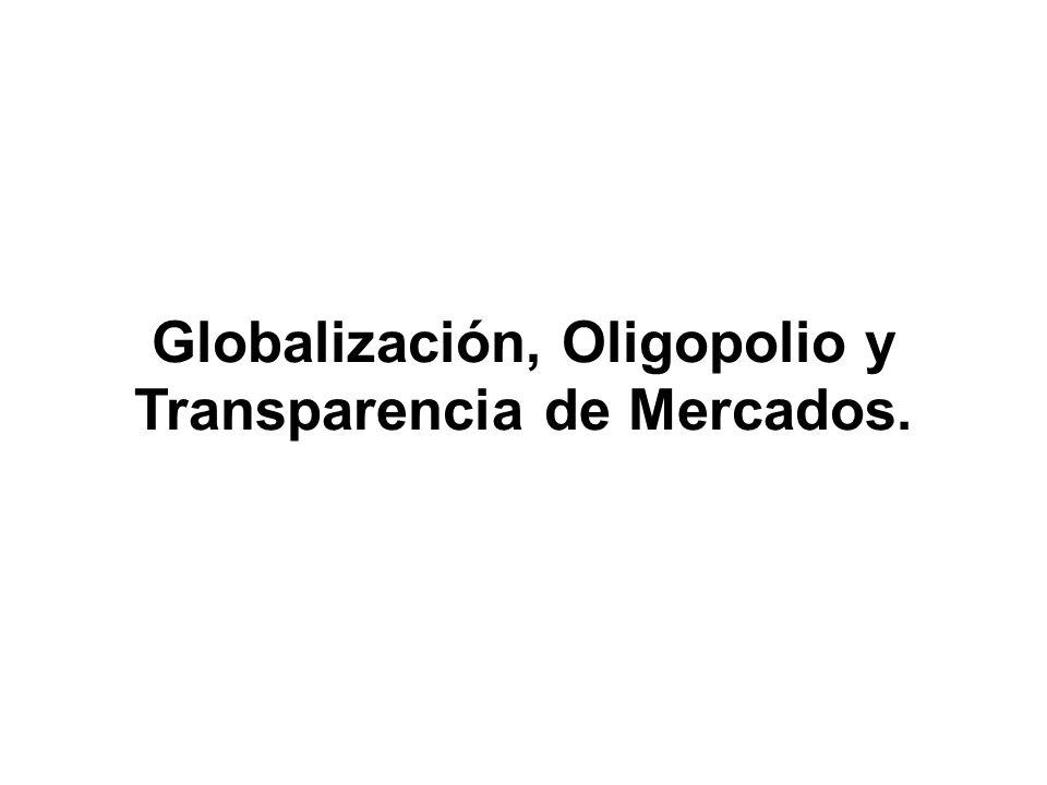 Globalización, Oligopolio y Transparencia de Mercados.