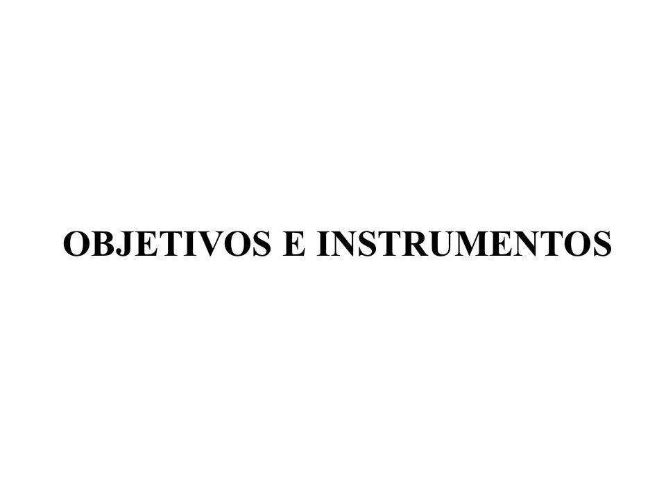 OBJETIVOS E INSTRUMENTOS