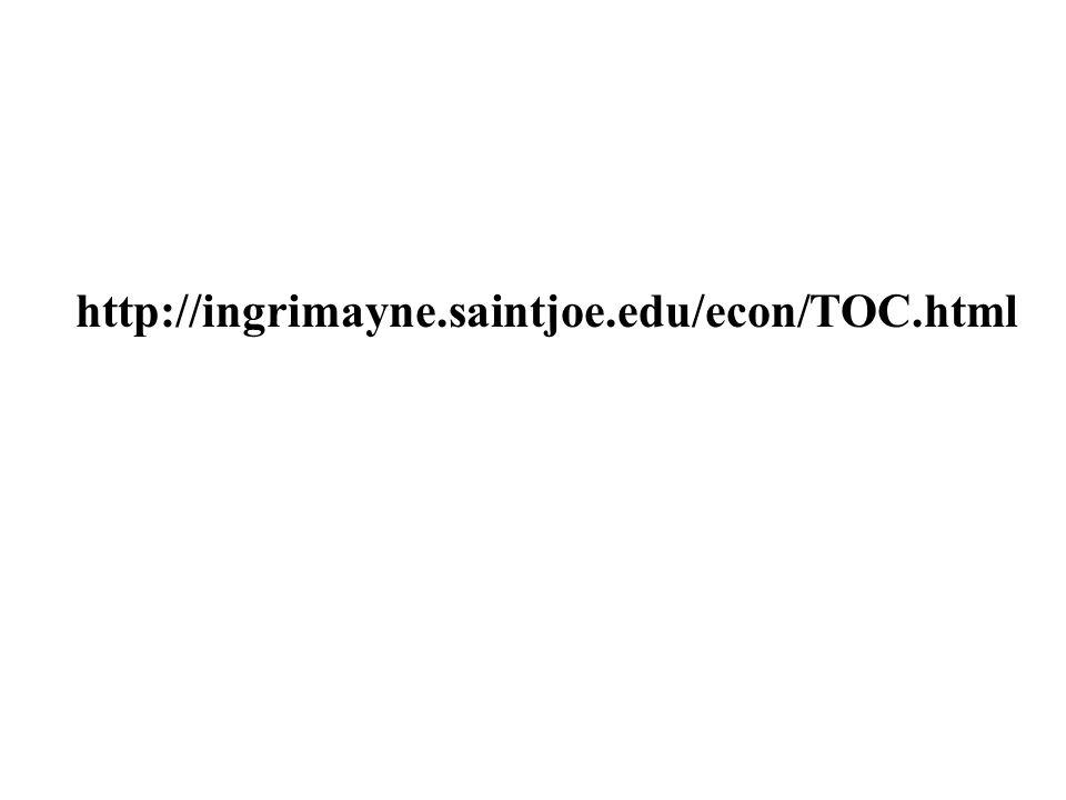 http://ingrimayne.saintjoe.edu/econ/TOC.html