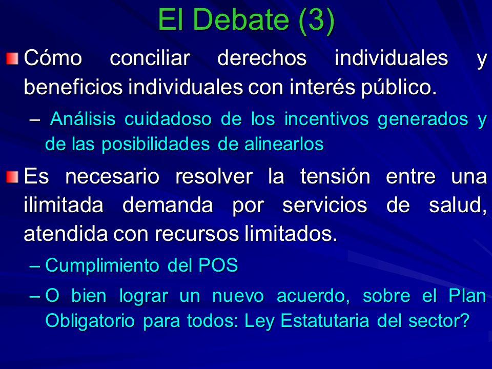 El Debate (3) Cómo conciliar derechos individuales y beneficios individuales con interés público.