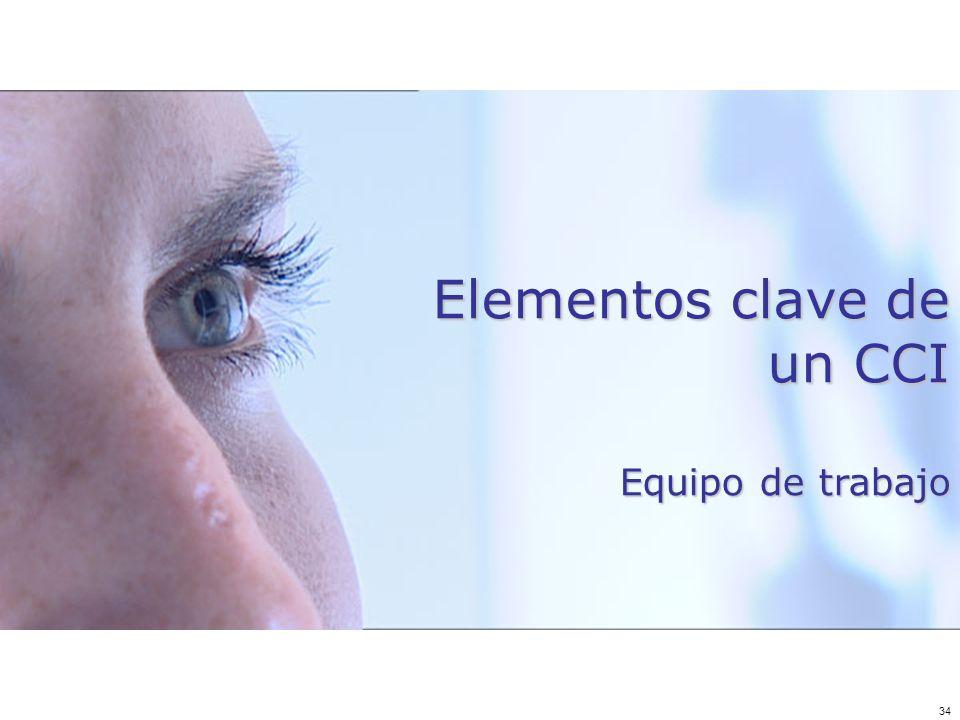 34 Elementos clave de un CCI Equipo de trabajo