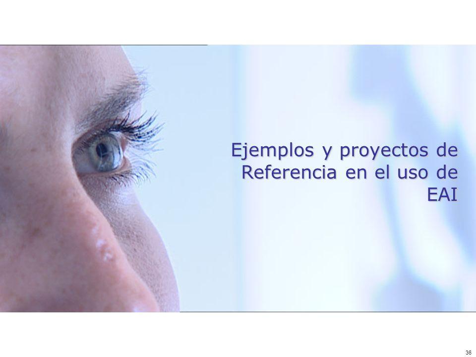 36 Ejemplos y proyectos de Referencia en el uso de EAI