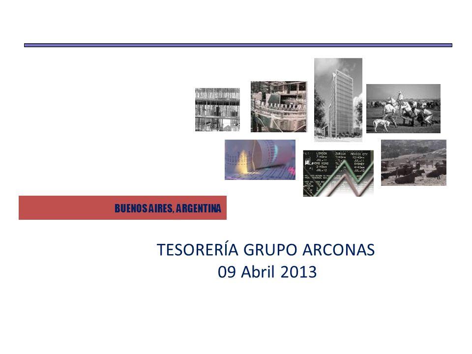 TESORERÍA GRUPO ARCONAS 09 Abril 2013 BUENOS AIRES, ARGENTINA