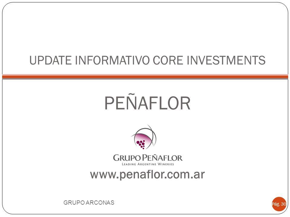 UPDATE INFORMATIVO CORE INVESTMENTS PEÑAFLOR www.penaflor.com.ar GRUPO ARCONAS Pág. 30