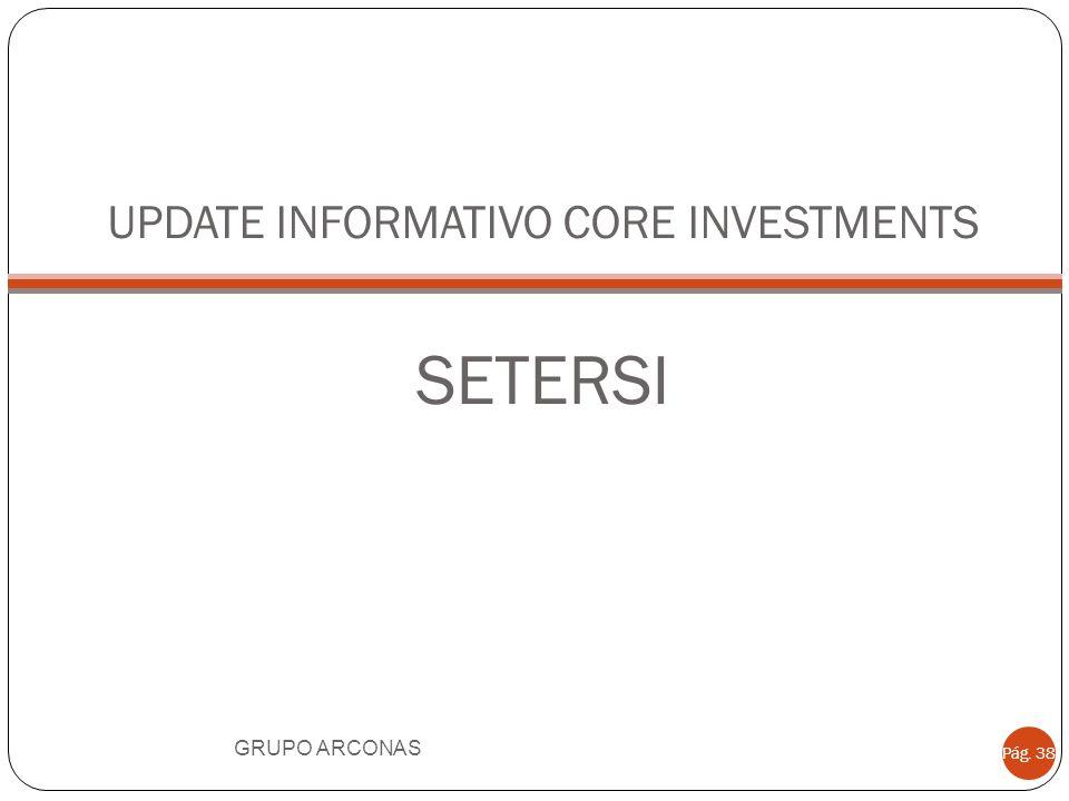 UPDATE INFORMATIVO CORE INVESTMENTS SETERSI GRUPO ARCONAS Pág. 38