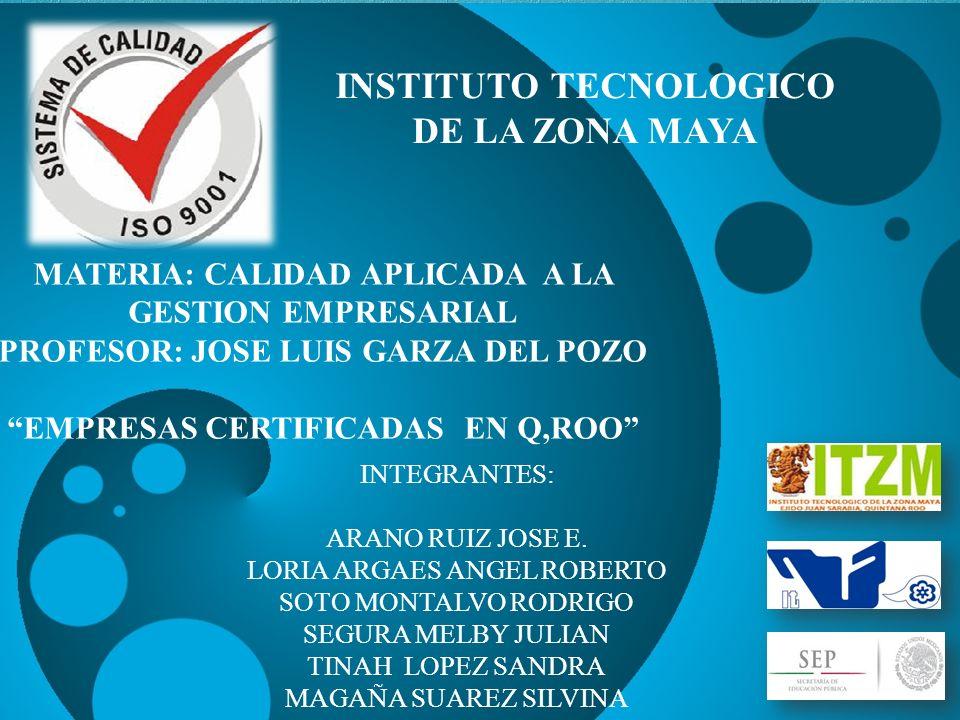 Numero de certificación QS-238.00-MX QUINTANA ROO ISO 9001:2008 HOTEL BARCELO MAYA BEACH RESORT.