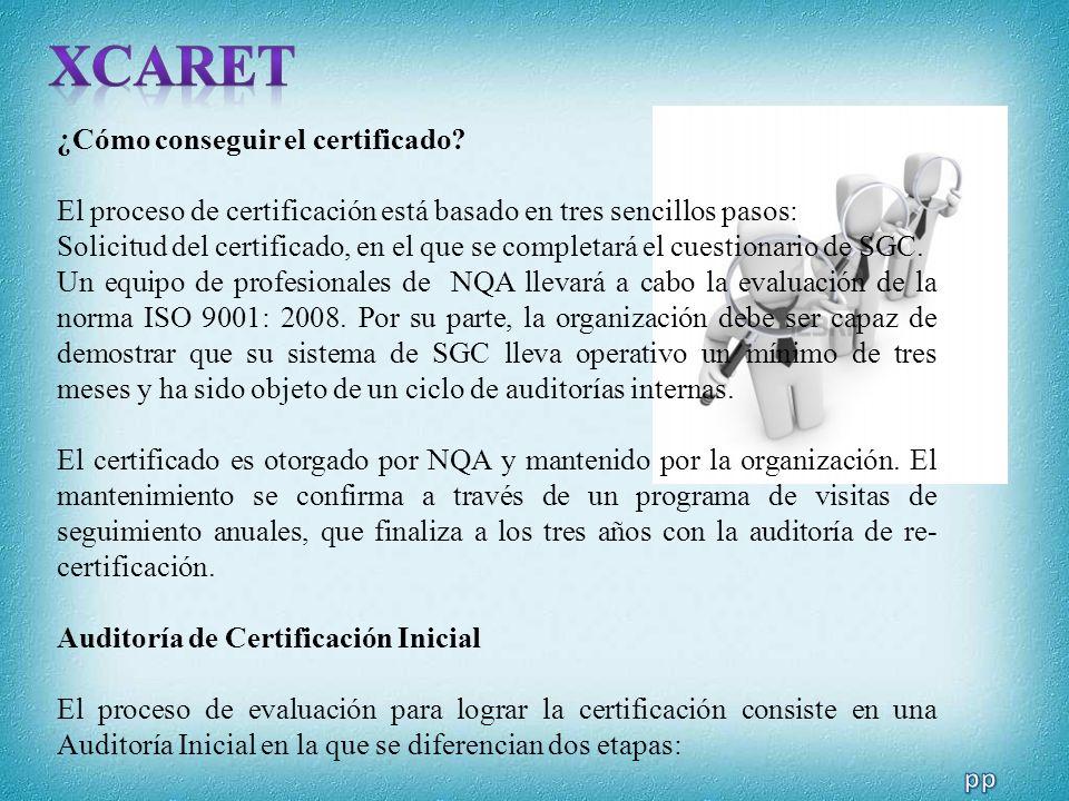 ¿Cómo conseguir el certificado? El proceso de certificación está basado en tres sencillos pasos: Solicitud del certificado, en el que se completará el