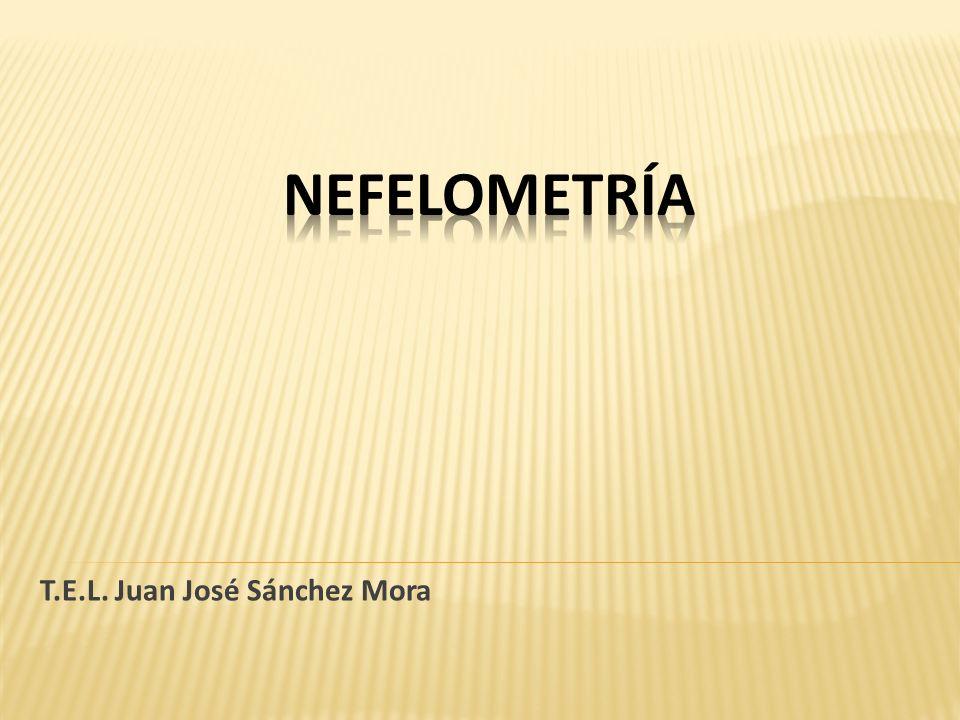 La nefelometría es un procedimiento analítico que se basa en la dispersión de la radiación que atraviesan las partículas de materia.