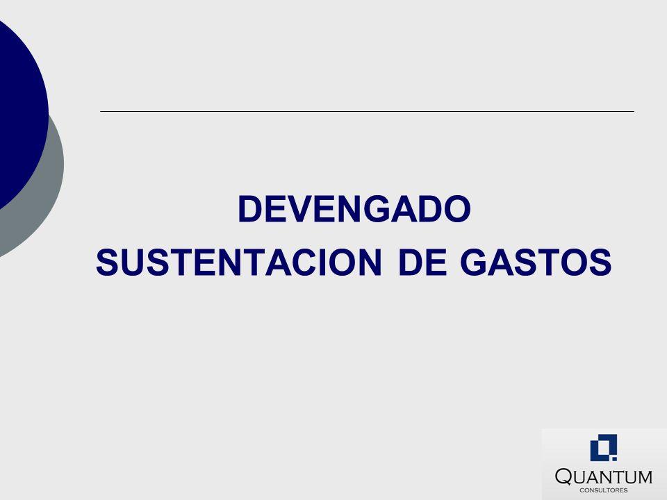 DEVENGADO SUSTENTACION DE GASTOS