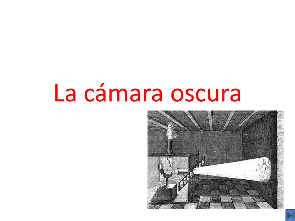 La cámara oscura es un instrumento óptico que permite obtener una proyección plana de una imagen externa sobre la zona interior de su superficie.