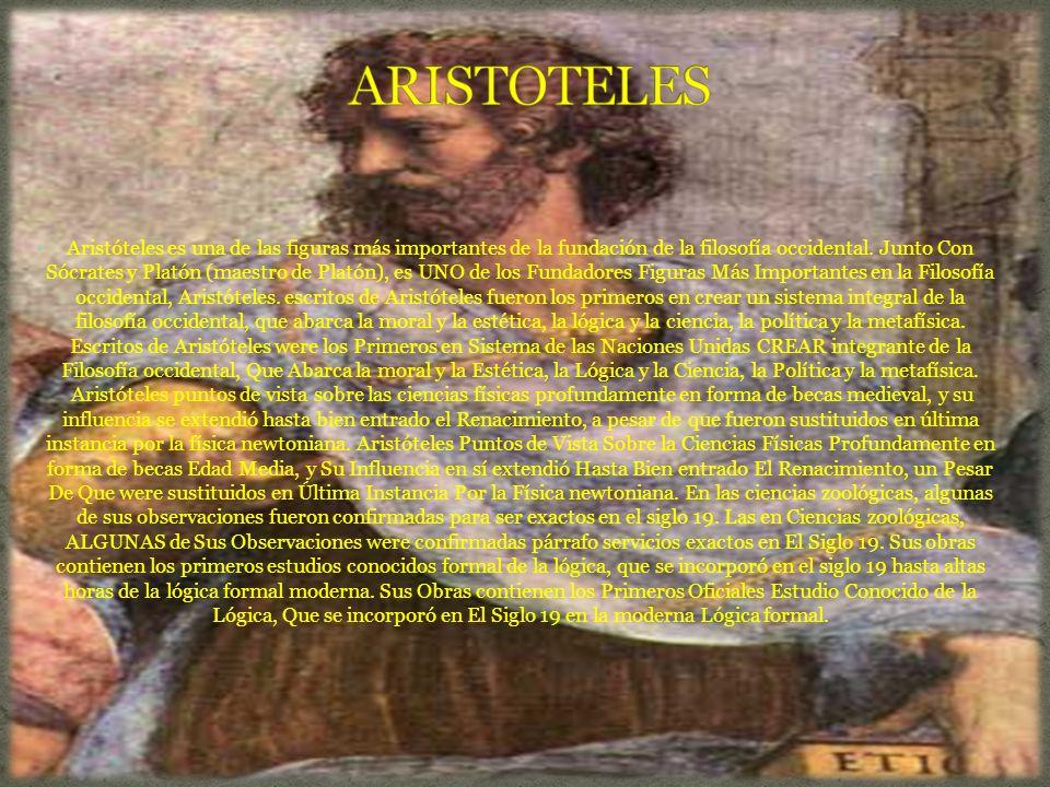 Aristóteles es una de las figuras más importantes de la fundación de la filosofía occidental.