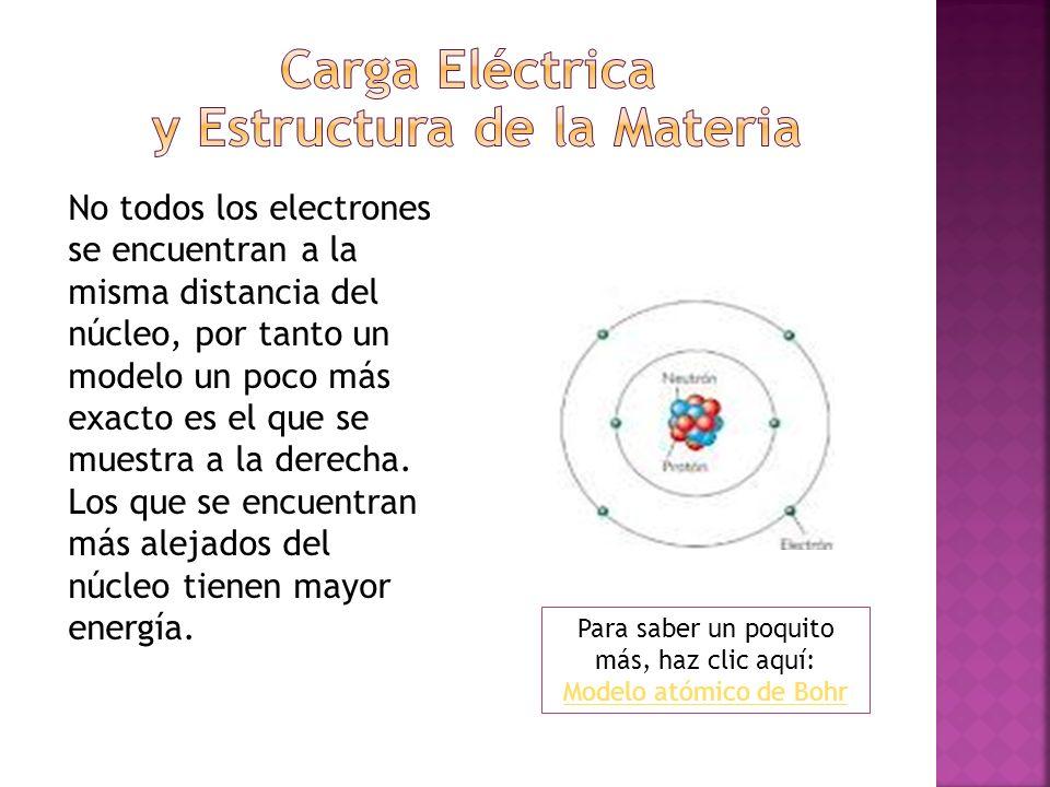 No todos los electrones se encuentran a la misma distancia del núcleo, por tanto un modelo un poco más exacto es el que se muestra a la derecha. Los q