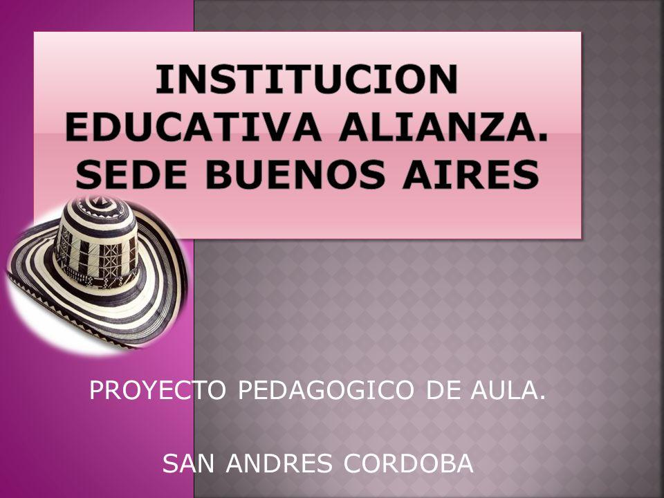 PROYECTO PEDAGOGICO DE AULA. SAN ANDRES CORDOBA