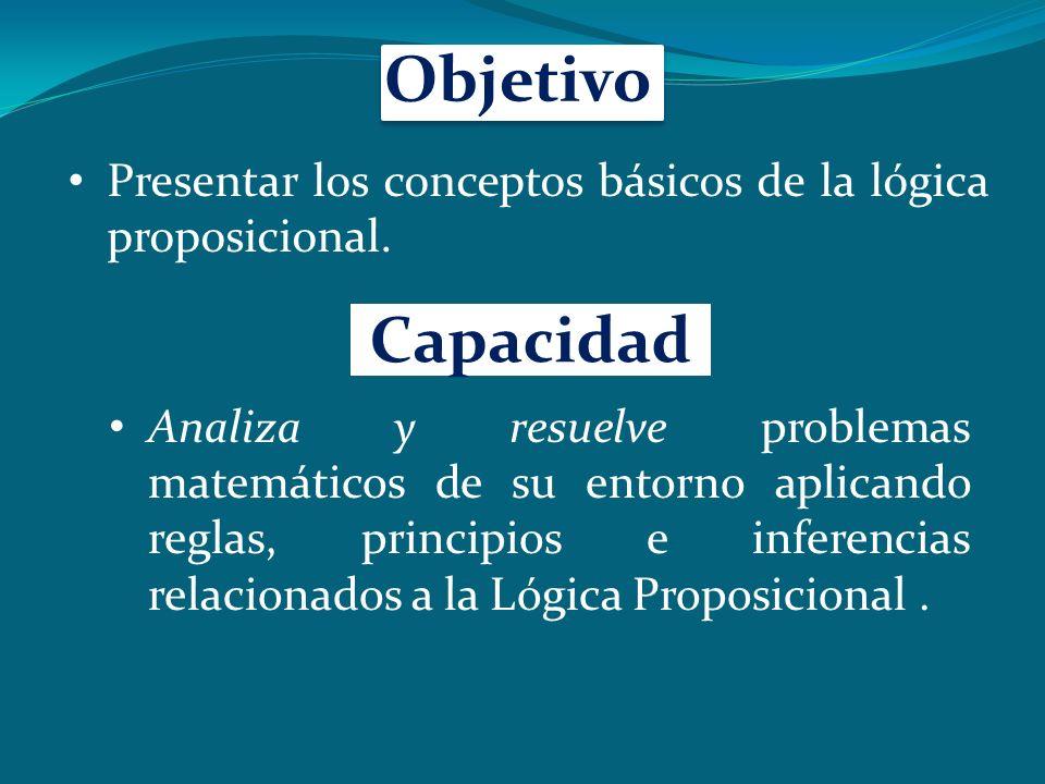 Objetivo Presentar los conceptos básicos de la lógica proposicional.