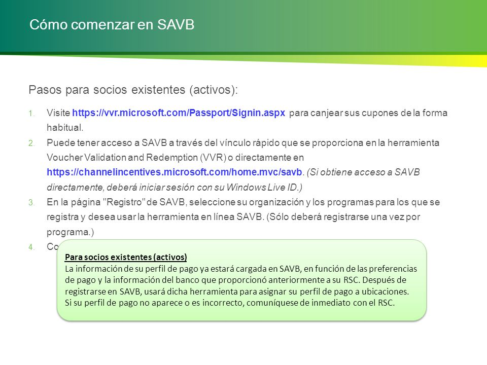 Esquema del curso 1.Introducción: Descripción general de la herramienta en línea SAVB 2.