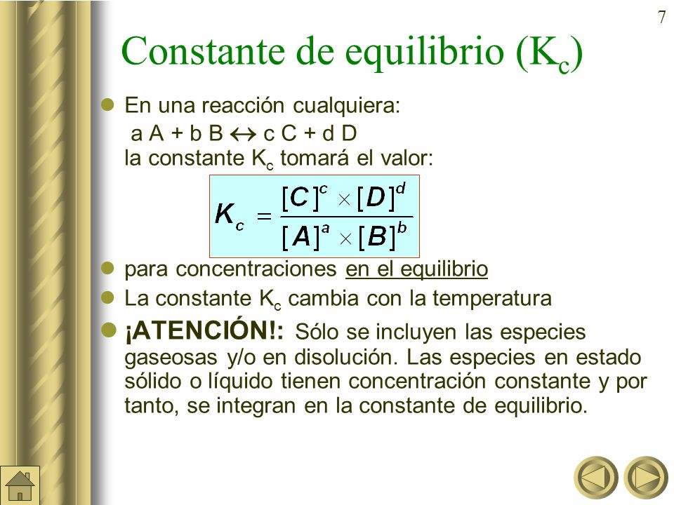 47 Principio de Le Chatelier Un cambio o perturbación en cualquiera de las variables que determinan el estado de equilibrio químico produce un desplazamiento del equilibrio en el sentido de contrarrestar o minimizar el efecto causado por la perturbación.