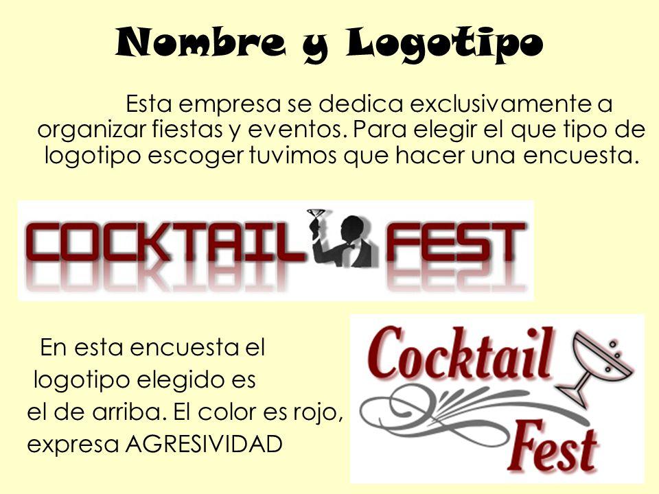 Nombre y Logotipo Esta empresa se dedica exclusivamente a organizar fiestas y eventos.
