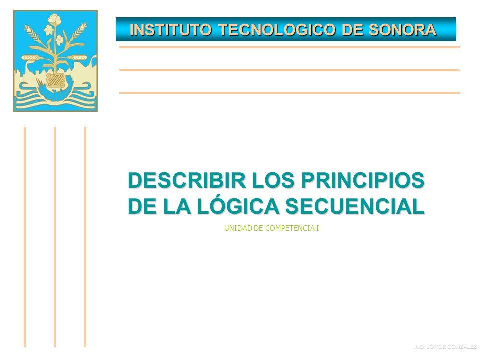 INSTITUTO TECNOLOGICO DE SONORA INSTITUTO TECNOLOGICO DE SONORA DESCRIBIR LOS PRINCIPIOS DE LA LÓGICA SECUENCIAL ING.