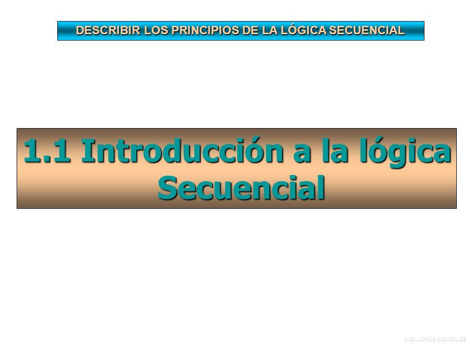DESCRIBIR LOS PRINCIPIOS DE LA LÓGICA SECUENCIAL 1.1 Introducción a la lógica Secuencial Secuencial ING.