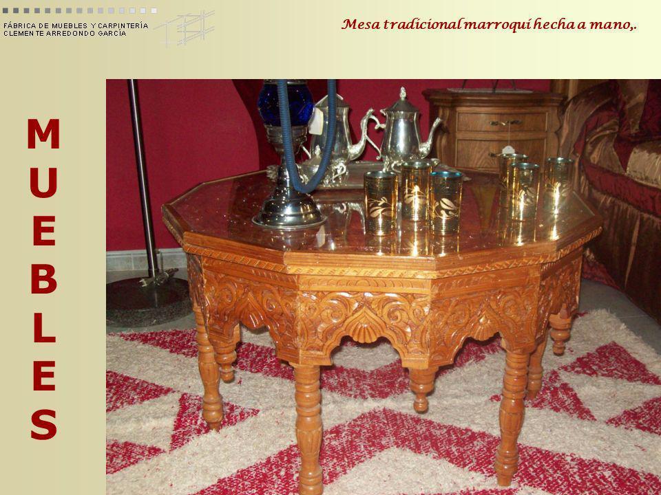 MUEBLESMUEBLES Mesa tradicional marroquí hecha a mano,.