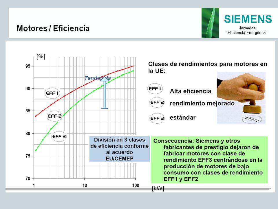 SIEMENS Jornadas Eficiencia Energética Motores / Eficiencia