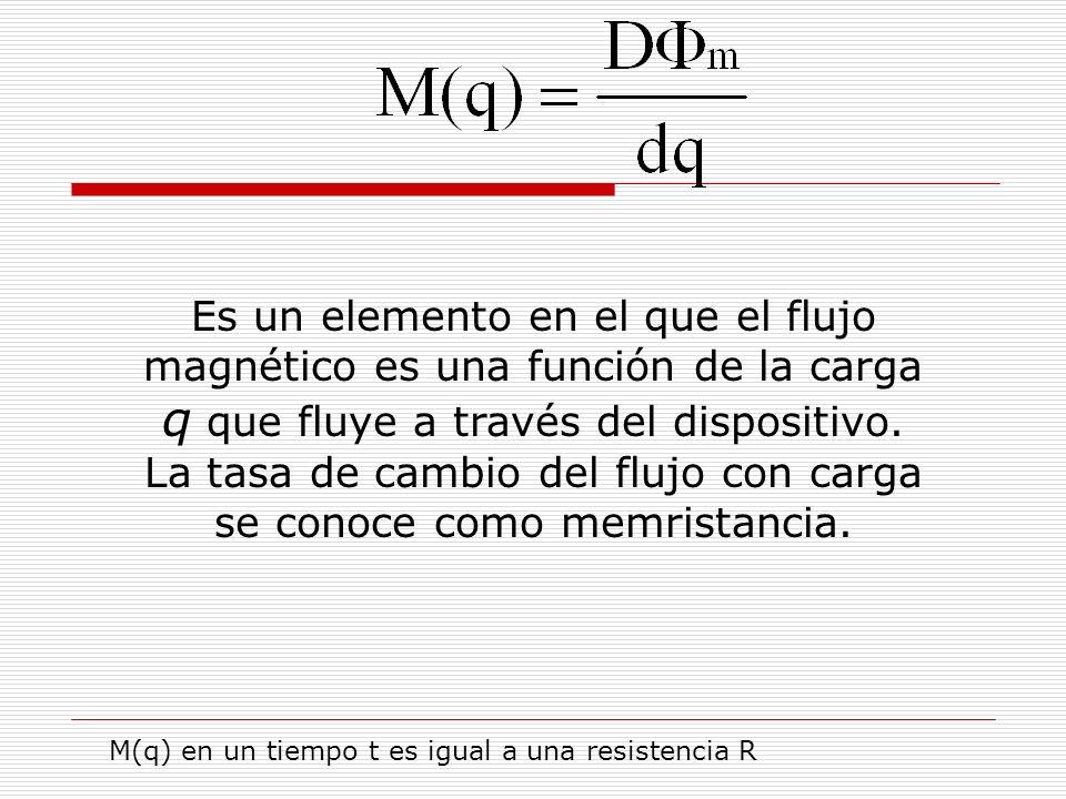 Es un elemento en el que el flujo magnético es una función de la carga q que fluye a través del dispositivo.