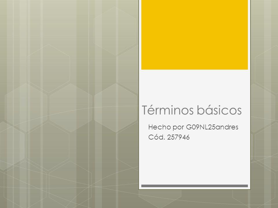 Términos básicos Hecho por G09NL25andres Cód. 257946