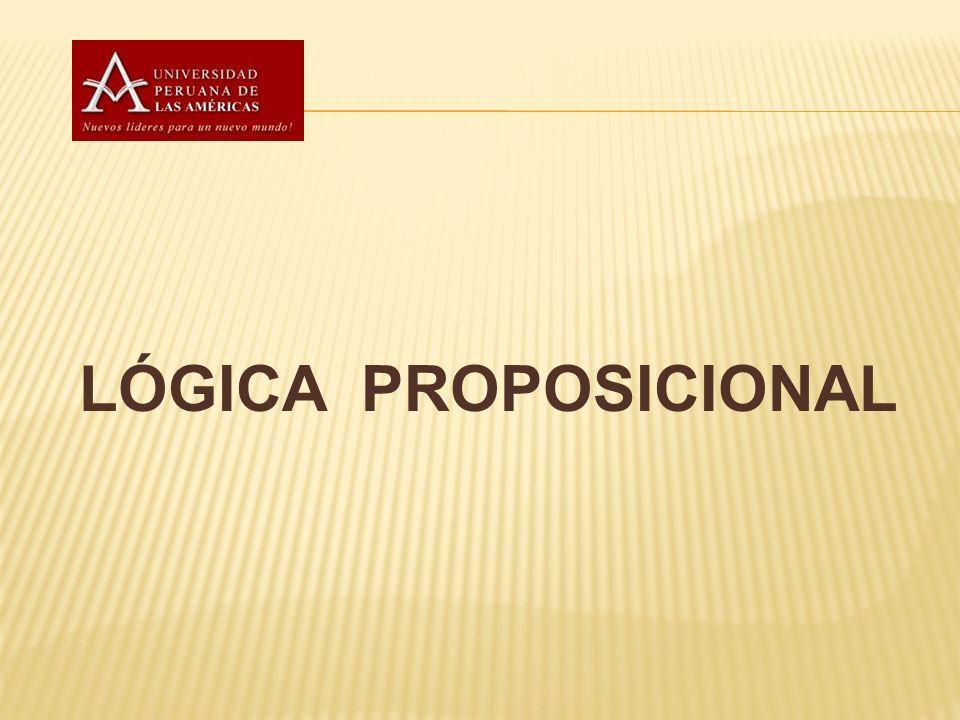 Una proposición es una sentencia (oración) correctamente formada que puede se le puede asignar un valor de verdad o falsedad.